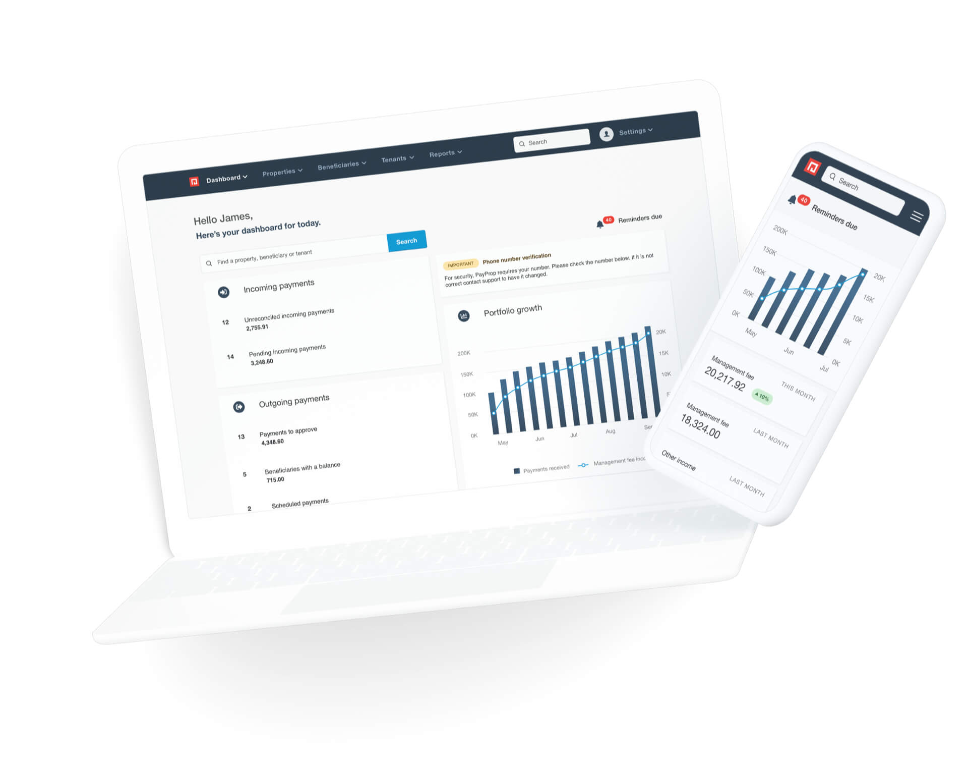Portfolio Overview feature